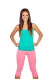 Funny girl in sportswear Stock Photography