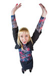 Funny girl in suit Royalty Free Stock Images
