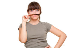 Funny girl in t-shirt Stock Photography