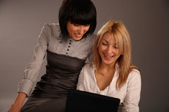 Funny girl at work Royalty Free Stock Images