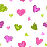 Funny girlish printable texture with cute hearts. Royalty Free Stock Photo