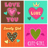 Funny girlish prints set Royalty Free Stock Image