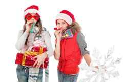 Funny girls Royalty Free Stock Photography