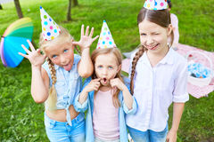 Funny girls royalty free stock photos