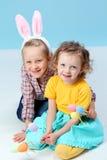 Girls with rabbit ears Stock Photos