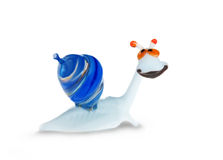 Funny glass snail Royalty Free Stock Images
