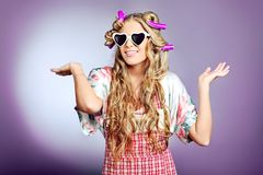 Funny glasses Stock Images