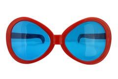 Funny glasses, bug eyes shape. Funny glasses isolated on white background, Extravagant party goggles royalty free stock image