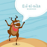 Funny goat for Eid-Al-Adha celebration. Stock Images