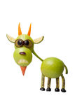Funny goat made of apple Stock Photography