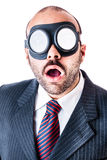 Funny goggles businessman Stock Photo