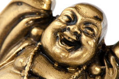 Funny golden Buddha Royalty Free Stock Photo