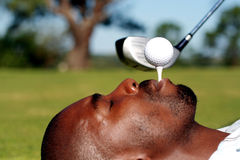 Funny golf Stock Image