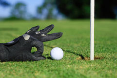 Funny golf royalty free stock photography
