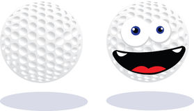 Funny Golf Ball Royalty Free Stock Image