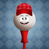 Funny golf ball Stock Photo