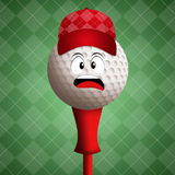 Funny golf ball Royalty Free Stock Photo
