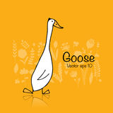 Funny goose, sketch for your design Stock Photos