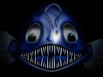 Funny goosefish. Funny deep-water funny goosefish Royalty Free Stock Photo