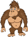 Funny gorilla cartoon Royalty Free Stock Images