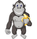 Funny gorilla cartoon Royalty Free Stock Image