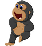 Funny gorilla cartoon Royalty Free Stock Photography