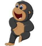Funny gorilla cartoon Royalty Free Stock Photography