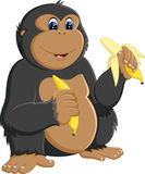 Funny gorilla cartoon Stock Photography