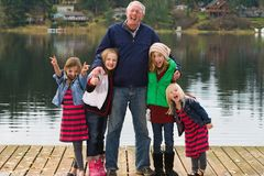 Funny Grandpa Royalty Free Stock Photos