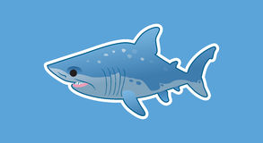 Funny great white shark royalty free stock photo