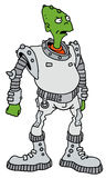 Funny green alien Stock Photo