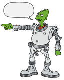 Funny green alien Royalty Free Stock Image