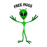 Funny green alien Royalty Free Stock Photo