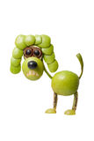 Funny green apple poodle Royalty Free Stock Images