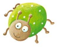Funny green bug. Illustration of funny green bug Stock Photo
