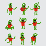 Funny green character Stock Photo