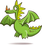 Funny green dragon Stock Images