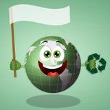 Funny green earth Royalty Free Stock Photos