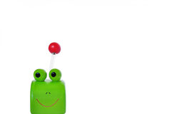 Funny green frog Stock Photos