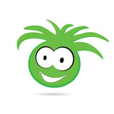 Funny green head with big eye Stock Photo