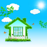 Funny Green House. Royalty Free Stock Images