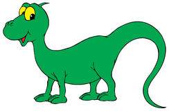 Funny green monster Stock Photos