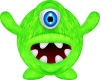 Funny green monster Royalty Free Stock Images