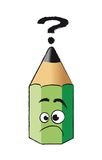Funny green pencil Royalty Free Stock Image