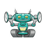 Green robot Royalty Free Stock Photography