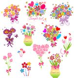 Funny greeting bouquets Royalty Free Stock Image