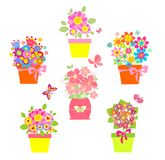 Funny greeting bouquets Royalty Free Stock Photography