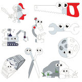 Funny Grey Color Oblects, the big kid game to be colored by example half. Funny Grey Color Oblects, the big collection coloring book to educate preschool kids royalty free illustration