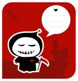 Funny grim reaper halloween greeting card Stock Photos