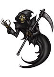 Funny Grim Reaper with OK gesture Royalty Free Stock Image